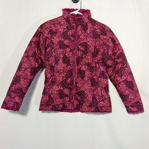 North Face Reversibl Jacket 10 12 Fleece Butterfly